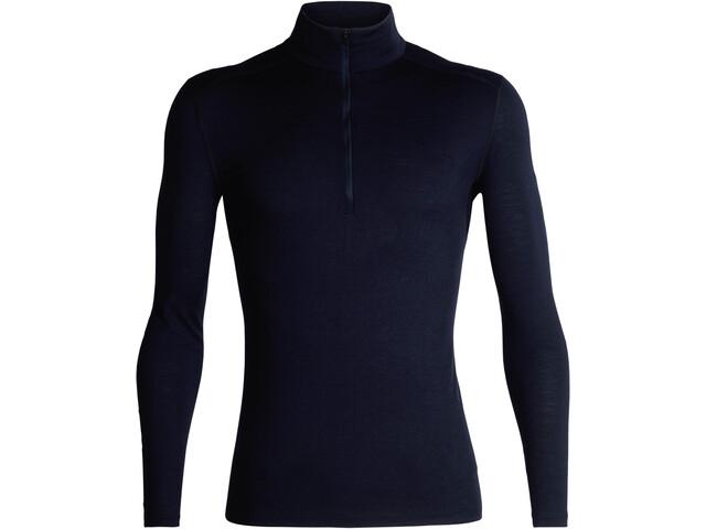 Icebreaker 200 Oasis Koszulka z długim rękawem i zamkiem błyskawicznym Mężczyźni, midnight navy